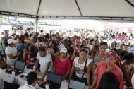 Decenas de personas acudieron al punto de censo de la Alcaldía en el Muvdi.