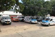 La red de ambulancias en los Juegos Bolivarianos, atenta a las emergencias.