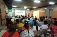 El evento de reintegración tuvo lugar en el auditorio de la Cámara de Comercio de Montería.