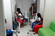 Los pequeños fueron atendidos en la urgencia del hospital San José de Tierralta.