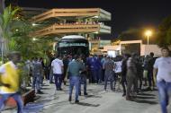 El bus del Pasto alcanzó a llegar al estadio Metropolitano tras el incidente.