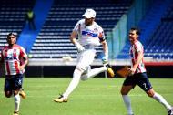 Sebastián Viera festeja el tanto anotado a Deportivo Pasto.
