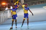 Kerstink Sarmiento y Andrea Canon, oro para Colombia en patinaje.
