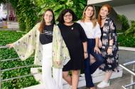 Las creadoras Farah, Carolina, Laura y Joan.