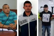 Jonathan Enrique Berdugo Bolaños, conductor del taxi; Richard Guevara Estrada, alias Chucha y Alexander Rivera Medina, los tres capturados por el caso.