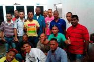 Algunos de los colombianos que permanecen retenidos en cárceles de Caracas.
