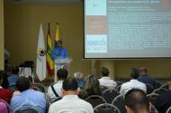 Marcial Cano, gerente departamental de la Contraloría, explica los resultados de las auditorías.