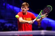David Goffin, principal tenista del equipo belga.