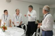 De izquierda a derecha: Carlos Rosado, Eduardo Verano, Mauricio Cárdenas y Ricardo Plata.