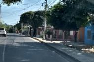 Calle 87 con carrera 21 del barrio La Manga, donde se registró el atentado.