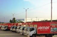Camiones de la compañía Jamar.