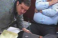 Danilo Daza cuando comparecía en una de las audiencias preliminares.