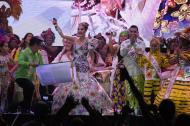 La reina del Carnaval, Valeria Abuchaibe Rosales, leyó un Bando de cinco artículos, todos escritos por ella, en el que con pinceladas de humor abordó temas de actualidad.