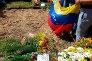 El sitio en donde fue enterrado Abraham Agostini.