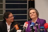 Gustavo Petro y Clara López, candidatos presidenciales.
