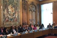 Mauricio Cárdenas en la reunión de la OCDE.