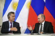 Mauricio Macri, presidente de Argentina, junto a su homólogo Vladimir Putin.