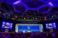 El primer ministro Indio, Narendra Modi, en el discurso de apertura del foro económico mundial.