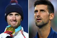El francés Pierre Vaultier y el tenista serbio Novak Djokovic. Es evidente el parecido físico entre ambos.