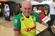 Stellan Danielsson con la camisa del Real Cartagena.