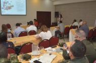 Alejandra Barrios, directora nacional de la MOE, en presentación en Barranquilla.