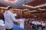 Germán Vargas durante la presentación de su propuesta de política pública.