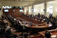 Aspecto de la reunión del Consejo Permanente de la OEA, ayer en Washington.