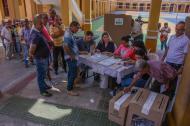 Aspecto de las elecciones legislativas el pasado 11 de marzo en la capital del Atlántico, B/quilla.