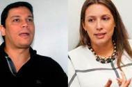La senadora del Partido de la U, Sara Piedrahíta Lyons y el senador cordobés del Centro Democrático, Daniel Cabrales.
