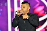 Danny Daniel durante su presentación de este viernes en Riohacha.