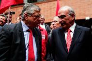 El expresidente César Gaviria y el candidato a la Presidencia (partido Liberal), Humberto de la Calle.