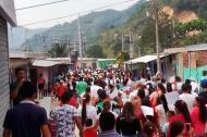 Las comunidades de El Aserrio, San Pablo y Teorama se movilizaron pidiendo el cese de fuego y los enfrentamientos entre el Eln, el Epl.