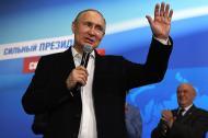 Vladimir Putin, presidente reelecto de Rusia.