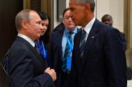 Putin con el entonces presidente de Estados Unidos, Barack Obama.