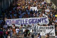 Centenares de personas residentes en Río de Janeiro y Sao Paulo marcharon este domingo para exigir justicia tras la muerte a bala de la concejala Marielle Franco.