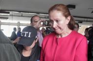 Bertha Cecilia Rueda Ossa, esposa del comerciante asesinado.