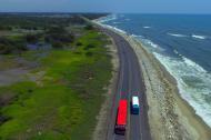 Kilómetro 19, punto crítico de la vía que comunica a Barranquilla con Ciénaga.