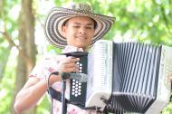 Ronald Bayena, de 15 años, participa en la categoría juvenil, en Valledupar.