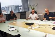 Reunión del gobernador del Eduardo Verano, con representantes de las empresas Transelca, Urrá, Electricaribe y Andi, para analizar la actualidad del sector energético en el Atlántico.