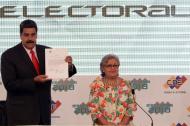 Nicolás Maduro y Tibisay Lucena.
