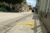 En este sector del barrio Las Gaviotas fue atacado a tiros Jairo Antonio García Rodríguez.