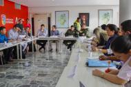 Aspecto de la reunión del Comité de Seguimiento Electoral realizado ayer.
