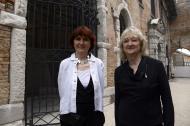 Yvonne Farrell y Shelley McNamara, curadoras de la Bienal de Venecia.