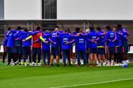 Jugadores de la Selección Colombia durante un entrenamiento.