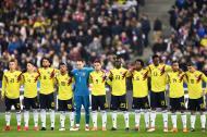 Ospina, Falcao, Dávinson Sánchez, Carlos Sánchez, Mina, Muriel y James Rodríguez.