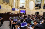 Aspecto de la plenaria del Senado de la República durante la discusión de la reglamentación de la JEP.