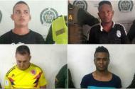 Los cuatro capturados en los operativos adelantados por la Policía Metropolitana.