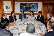 Iván Duque y Marta Lucía Ramírez se reunieron con los presidentes de las Cortes Suprema y Constitucional, el Consejo de Estado y el Fiscal General.