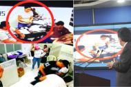 El fiscal general muestra los videos obtenidos por los investigadores en la sede de Merlano.