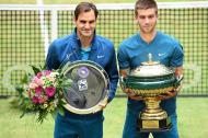 El suizo Roger Federer y el croata Borna Coric.
